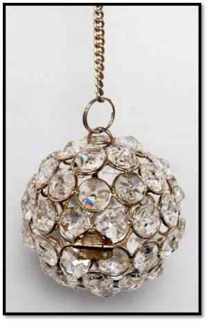 Crystal hanging ball 4″