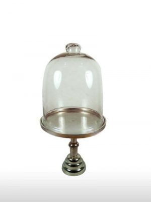 Aluminum Pedestal Glass Dome
