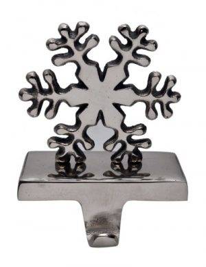 Metal Snowflake Stocking Holder