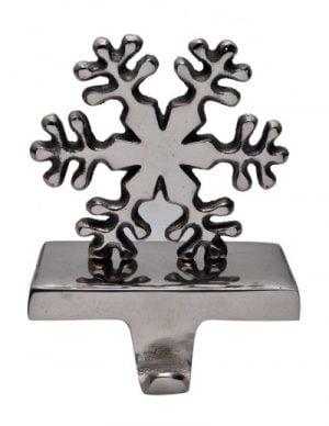 Metal Snowflake Stocking Holder