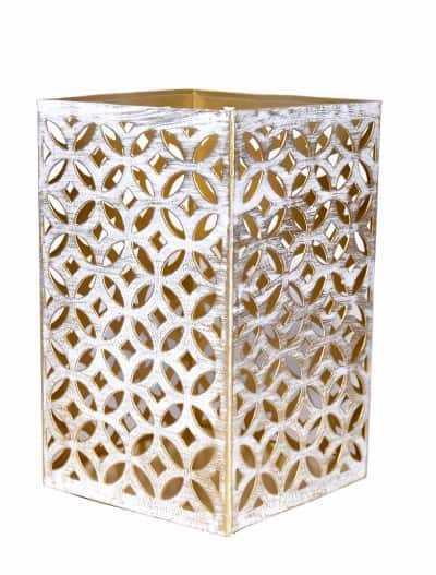 Square Metal and Glass Lanterns 16.5 Inches