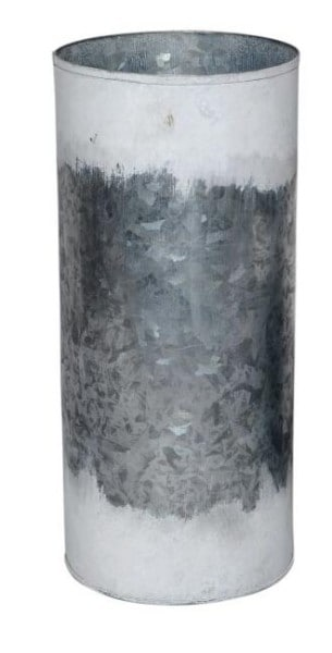 Grey Metal Cylindrical Planters